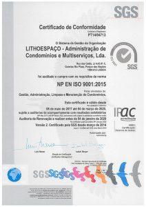 Lithoespaço | Certificado ISO 9001